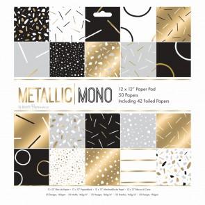"""12 x 12"""" Paper Pad (50pk) - Metallic Mono"""