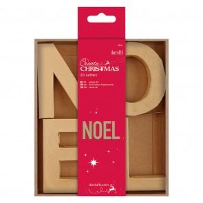 10cm 3D Letters (4pcs) - NOEL