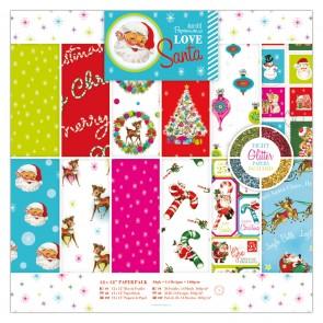 """12 x 12"""" Paper Pack (36pk) - Love Santa"""