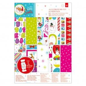 A4 Ultimate Die-cut & Paper Pack (48pk) - Love Santa