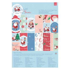 A4 Ultimate Die-cut & Paper Pack (48pk) - At Home with Santa