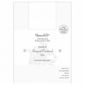 A4 Premium Cardstock Textured (20pcs) - Capsule - White