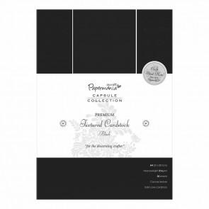 A4 Textured Premium Cardstock (20pcs) - Capsule - Black