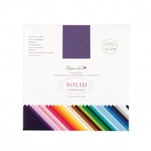 """6 x 6"""" Solid Premium Cardstock Colossal (75pcs) - Capsule"""