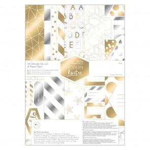 A4 Ultimate Die-cut & Paper Pack (48pk) - Modern Lustre