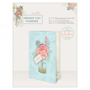 "5 x 7"" Decoupage Card Kit - Freshly Cut Flowers"