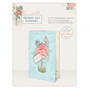 "5 x 7"" Decoupage Card Kit - Freshly Cut Flowers"