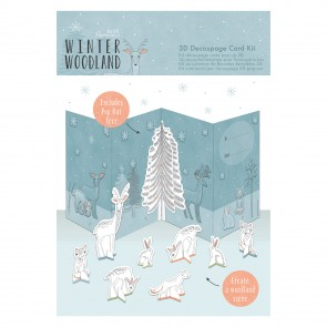 3D Decoupage Card Kit - Winter Woodland