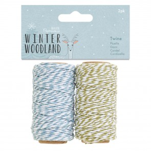 Twine (2pk) - Winter Woodland
