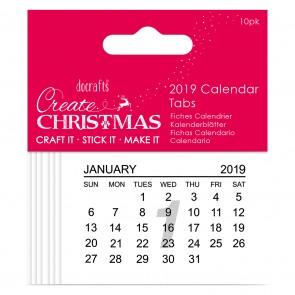 2019 Calendar Tabs - Create Christmas