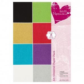A4 Glittered Paper Pack (16pk)