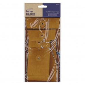 Kraft Envelope Bags (6pcs) - Bare Basics - Rectangular Brown