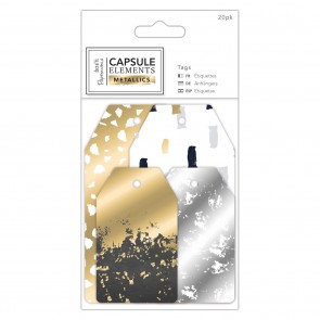 Tags (20pk) - Elements Metallics