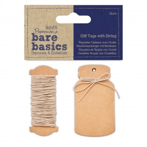 Gift Tags with String (12pk) - Bare Basics - Mini Bottle