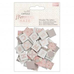 Wooden Tile Letters (50pcs) - Capsule - Moroccan Haze