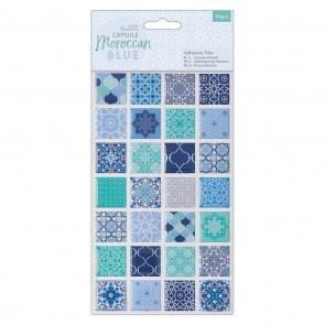 Adhesive Tiles (56pcs) - Capsule - Moroccan Blue