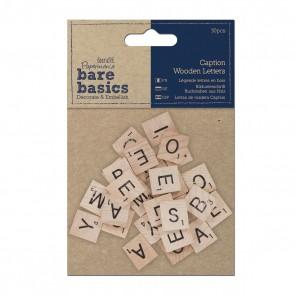 Wooden Caption Letters (30pcs)