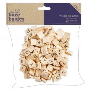 Wooden Tile Letters (200pcs) Scrabble