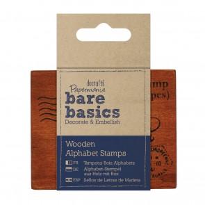 Wooden Alphabet Stamps (28pcs)