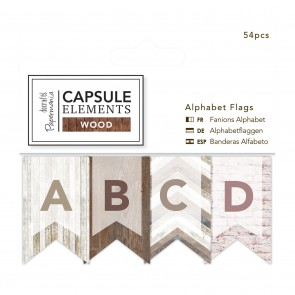 Alphabet Flags (54pcs) - Elements Wood