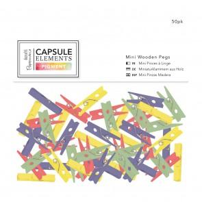 Mini Wooden Pegs (50pk) - Capsule Collection - Elements Pigment