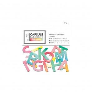 Adhesive Wooden Alphabet Pack (81pcs) - Capsule Collection - Elements Pigment