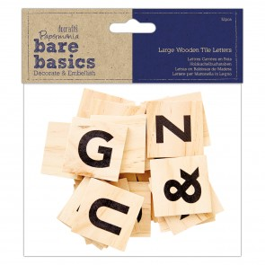 Big Wooden Tile Letters (32pcs) - Bare Basics