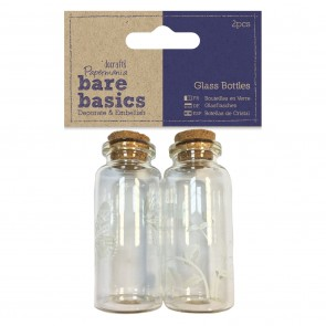 Glass Bottles (2pcs) - Butterflies - Bare Basics