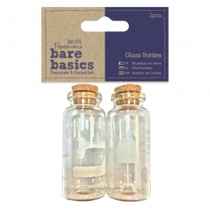 Glass Bottles (2pcs) - Haberdashery - Bare Basics