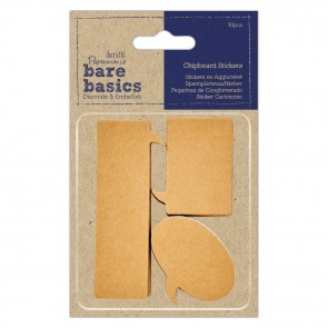 Chipboard Stickers (30pcs) - Bare Basics