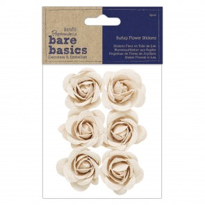 Burlap Flowers (6pcs) - Bare Basics - Rose