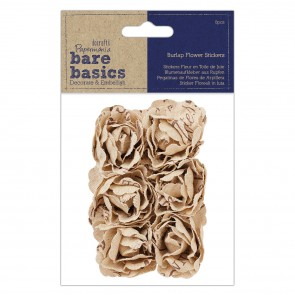 Burlap Flowers (6pcs) - Bare Basics - Blousey