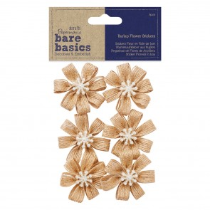 Burlap Flowers (6pcs) - Bare Basics - Blossom