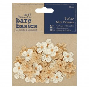 Burlap Mini Flowers (32pcs)