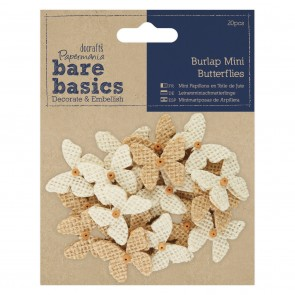 Burlap Mini Butterflies (20pcs)