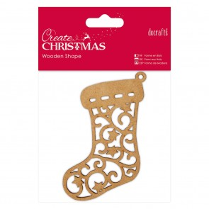 Wooden Shape - Stocking