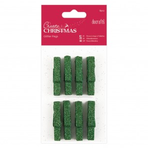 Glitter Pegs (8pcs) - Green