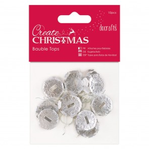 Bauble Tops (10pcs) - Silver