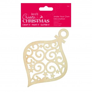 Make Your Own Decoration - Teardrop Bauble - Create Christmas