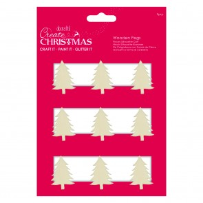 Christmas Tree Silhouette Pegs (9pcs) - Create Christmas