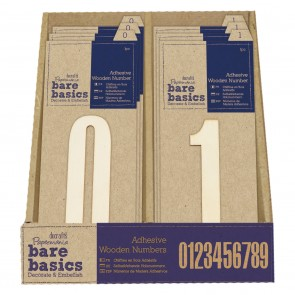 Adhesive Wooden Numbers  Filled CDU (50pcs)
