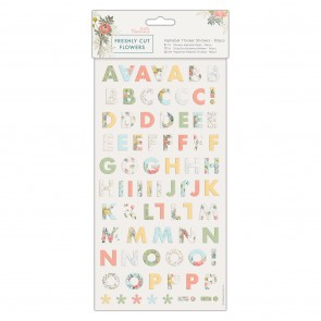 Alphabet Thicker Stickers (161pcs) - Freshly Cut Flowers