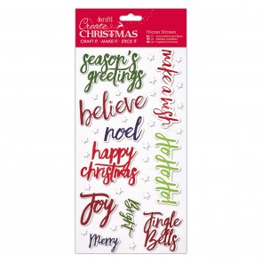 Christmas Thicker Stickers - Christmas Words