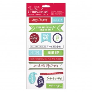 Christmas Thicker Stickers - Christmas Sentiments