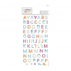 Alphabet Thicker Stickers  (169pcs) - Capsule Collection -  Elements Pigment