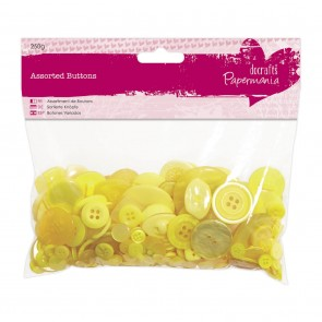 Assorted Buttons (250g) - Yellow