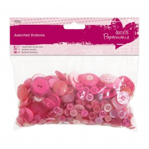 Assorted Buttons (250g) - Pink
