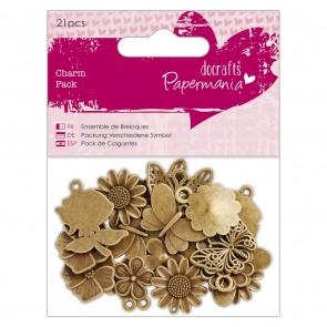Charm Pack (21pcs) - Papermania - Flowers & Butterflies