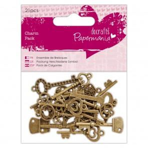 Charm Pack (21pcs) - Papermania - Vintage Keys