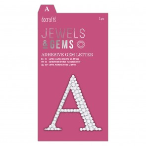 Adhesive Gem Letter - A - Jewels & Gems